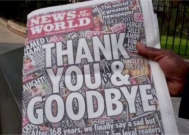 News of the World last edition - goodbye.