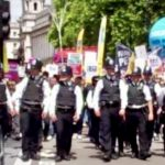 police monitored protest