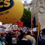 Pension cuts protest