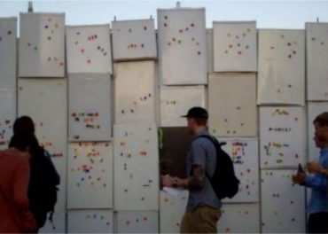 cinema built out of fridges