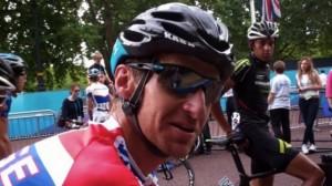 jubilant cyclist