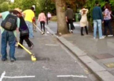 Ealing - sweeping up