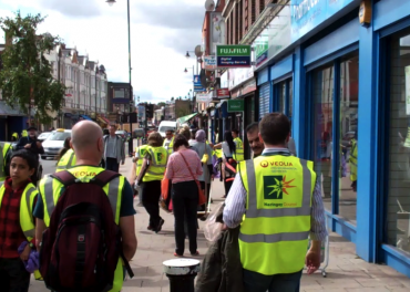 Community Tottenham -preparing to clean-up