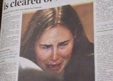 Amanda Knox - front page british papers