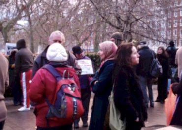 Wikileaks Soldier Bradley Manning vigil at American Embassy