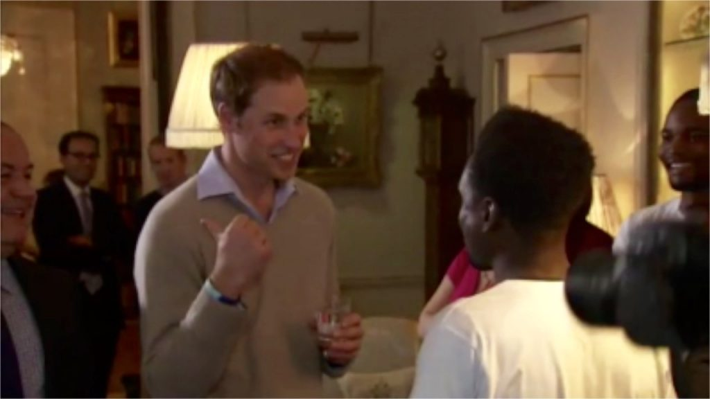 Prince William urging kids to go for it!
