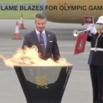 David Beckham lights Olympic flame