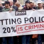 Police Strike to save jobs