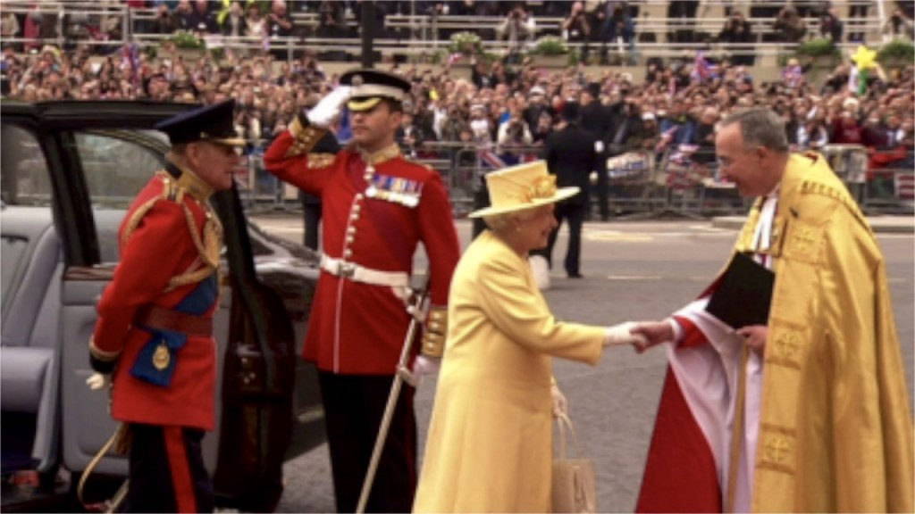 Queen Elizabeth II celebrates