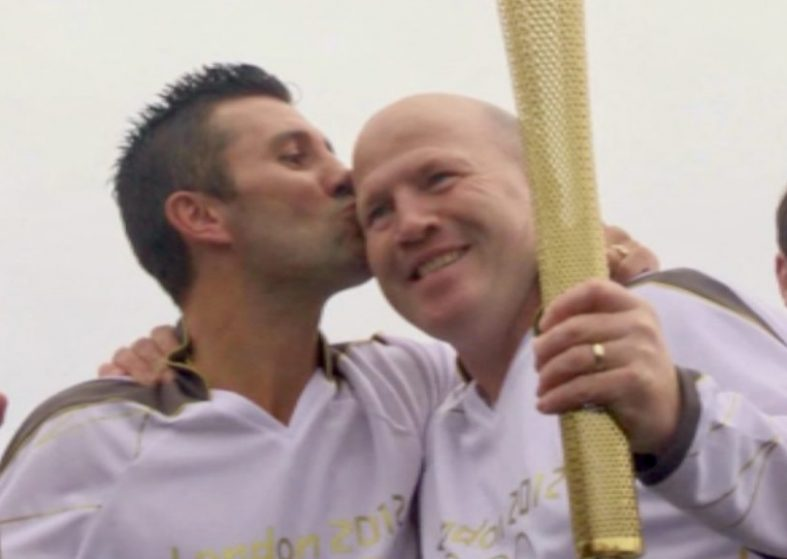 Olympic Torch - kiss from north to south