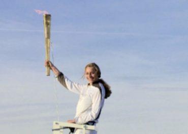 Torch flies high on London Eye