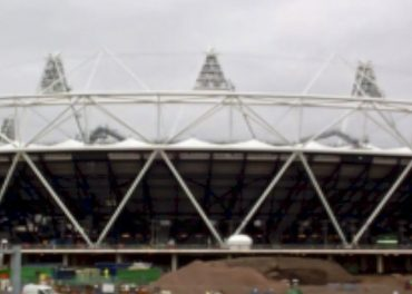 East End Olympic Stadium in progress