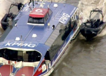 security action on the Thames