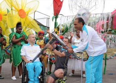 Paralympics 2012 Flame enjoys salsa and samba