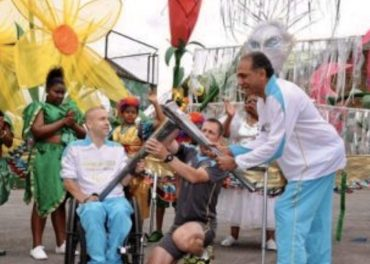 Paralympics 2012 Flame enjoys salsa and samba