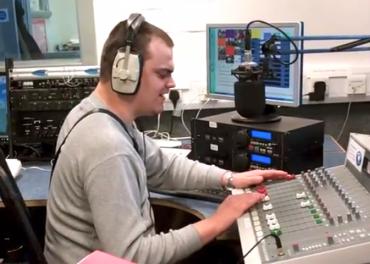Community Radio - volunteer blind DJ