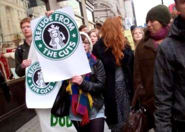 Starbucks Tax Protest - UK demonstrations