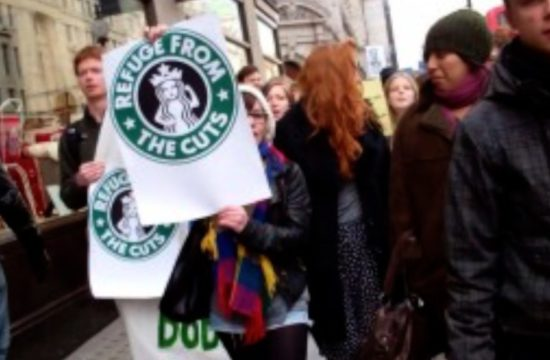 Starbucks Tax Protest - UK demonstrations