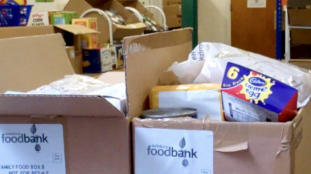 Hunger - donated food