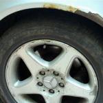 eBay Car - Mercedes rust