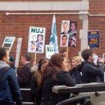 NUJ demo calling for press freedom