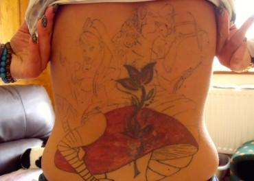 Alice in Wonderland tattoo went badly wrong