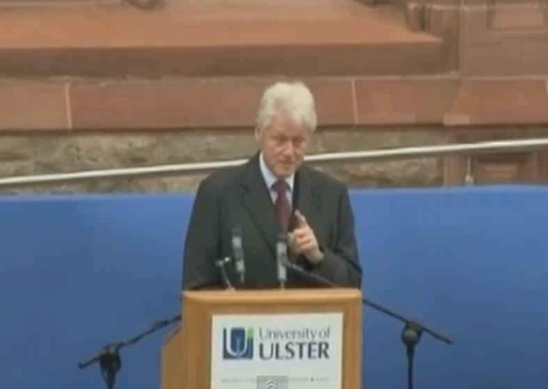 Bill Clinton praise for peace process