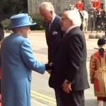 Queen greets Irish President