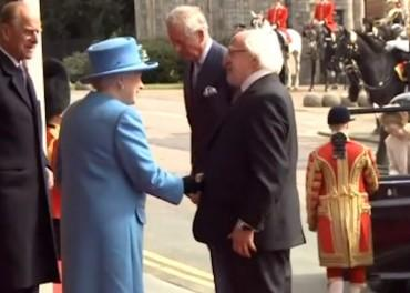 Queen greets Irish President