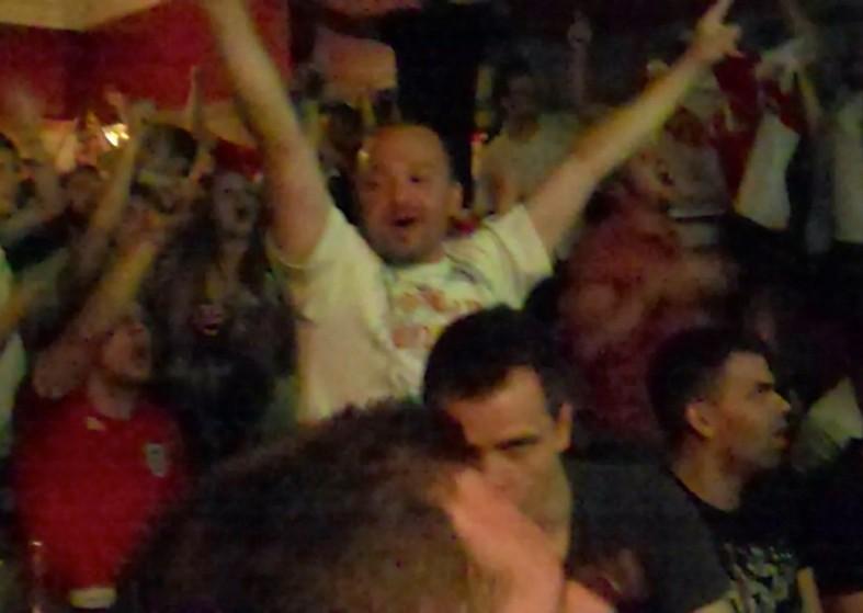 England v Italy Reveller in pub