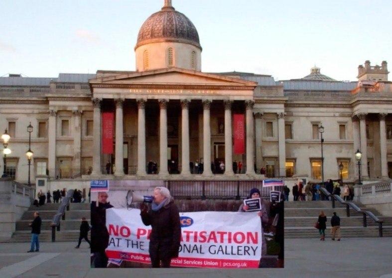 National Gallery Strike no privatisation