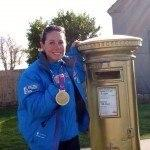 gold post box Portland for 2012 Olympics