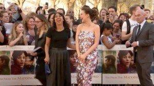 Far from the Madding Crowd Premiere - fit of giggles