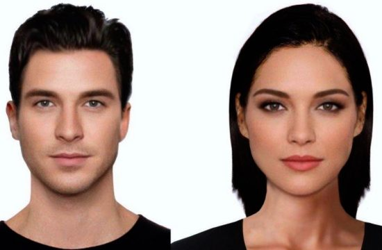 ideal male and female faces