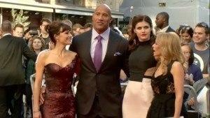 San Andreas World Premiere - The Rock & friends