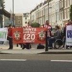 Chelsea, Southampton fans protesting