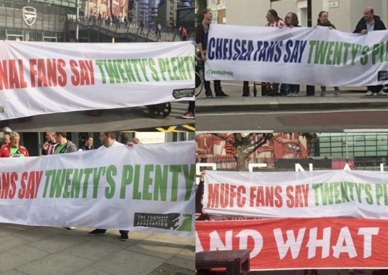 Football Fans Ticket Protest