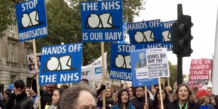 Junior Doctors protest filling London Streets
