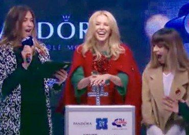 Kylie Minogue switch on