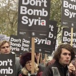 thousands protest against Syria air attacks