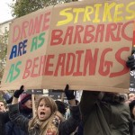protest outside Downing Street
