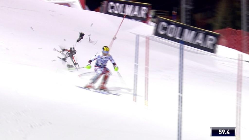 Skier Marcel Hirscher nearly hit by drone