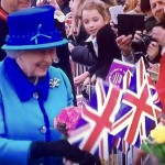 Queen meeting people