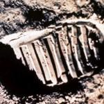 famous moon footprint