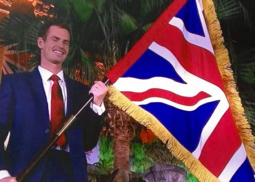 Andy Murray flag bearer Team GB