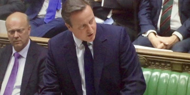 Cameron addresses parliament