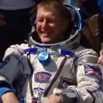 Tim Peake back on earth