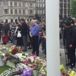 tributes left at Houses of Parliament