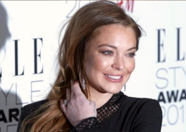 Lindsay Lohan in Kettering for Christmas
