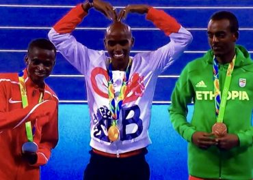Mo Farah wins gold